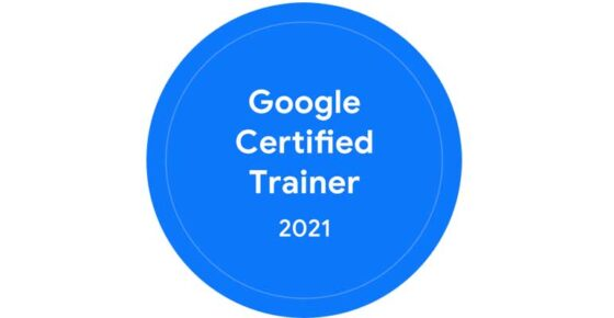 We Have A Google Certified Trainer